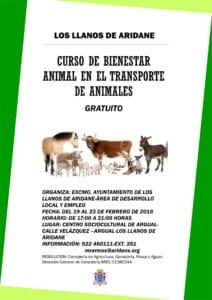 Curso de Bienestar animal en el transporte de animales @ Centro SocioCultural de Argual | Los Llanos | Spain