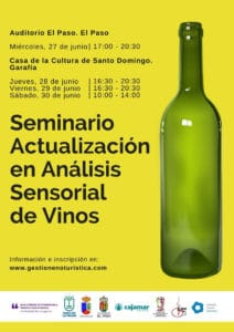Actualización en análisis sensorial de vinos @ Auditorio de El Paso | El Paso | Canarias | Spain