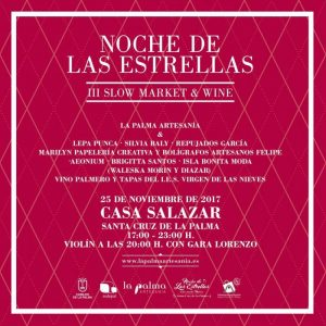 III Slow Market & Wine @ Casa Salazar | Santa Cruz de La Palma | Canary Islands | Spain