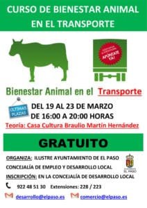 Curso de Bienestar animal en el transporte @ Casa Cultura Braulio Martín Hernández | El Paso | Canarias | Spain