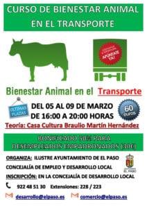 Curso bienestar animal en el transporte @ Casa Cultura Braulio Martín Hernández | El Paso | Canarias | España