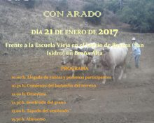 X Siembra Tradicional con Arado | 21 de Enero