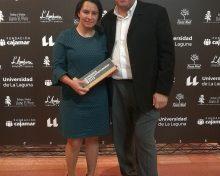 El Cabildo felicita a la bodeguera Patricia Perdomo, galardonada en los Premios Enogastroturismo de la Universidad de La Laguna