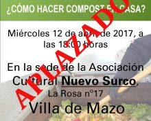 ¿Cómo hacer compost en casa? | 12 de abril en Villa de Mazo APLAZADO
