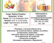 Curso de elaboración de conservas con frutos y hortalizas | 22 y 23 de Diciembre