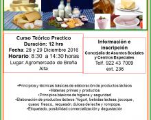 Curso de elaboración de productos lácteos | 28 y 29 de Diciembre