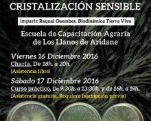 Control de calidad de productos agrarios mediante cristalización sensible | 16 y 17 de Diciembre