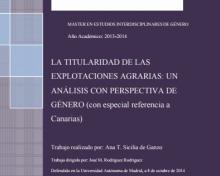 Titularidad de las explotaciones agrarias: un análisis con perspectiva de género (con especial referencia a Canarias)