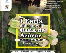 San Andrés y Sauces acoge el 2 de junio la I Feria del Ron y la Caña de Azúcar de Destilerías Aldea   El Apurón