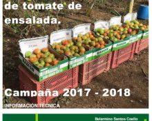 Ensayo de variedades de tomate de ensalada. Campaña 2017 – 2018 | Agrocabildo