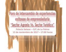 Foro de Intercambio de experiencias exitosas de emprendeduría en el sector agrario y turístico