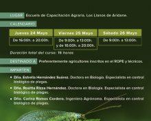 Curso Control biológico de plagas en cultivo de plataneras, aguacates y cítricos
