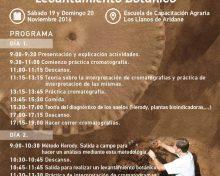 Análisis cualitativo de la fertilidad de suelos | 19 y 20 de noviembre