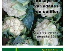 Ensayos de variedades de coliflor