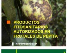 Productos fitosanitarios autorizados en frutales de pepita