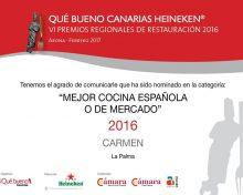 Premios Regionales de Restauración Qué bueno Canarias Heineken 2016.