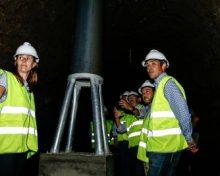 La obra de mejora de la red de riego en la zona de La Cruz-Bermeja, en La Palma, finalizará en verano y beneficiará a 364 agricultores