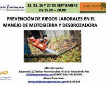 Prevención de riesgos laborales en el manejo de motosierras y desbrozadora
