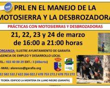 PRL en el Manejo de la Motosierra y la Desbrozadora en La Villa de Garafía | 21 a 24 de Marzo