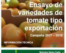 Ensayo de variedades de tomate tipo exportación. Campaña 2017-2018 | AgroCabildo