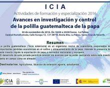 Avances en investigación y control de la polilla guatemalteca de la papa | 30 de noviembre