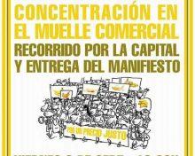 Manifestación en defensa del sector platanero