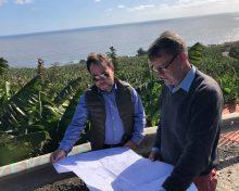 El Gobierno canario encarga nuevas obras de mejora de la Red de Riego de Los Sauces, que benefician a 1.029 fincas