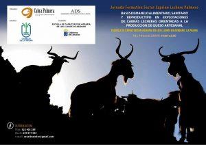 Jornada Formativa Sector Caprino Lechero Palmero @ Escuela de Capacitación Agraria de Los Llanos de Aridane | Los Llanos | Canarias | Spain