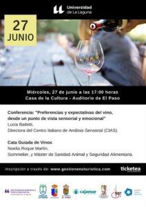 Preferencias y expectativas del vino @ Casa de La Cultura - Auditorio de El Paso | El Paso | Canarias | España