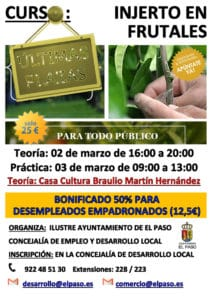 Curso de Injerto de Frutales @ Casa Cultura Braulio Martín Henández | El Paso | Canarias | Spain