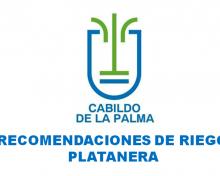 Recomendación de riego en platanera  del 18 al 24 de mayo de 2020
